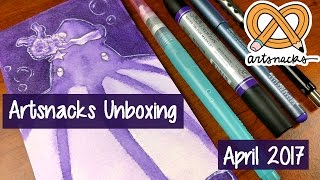 ARTSNACKS UNBOXING + REVIEW ~ April 2017 ~ Kaatydid Art