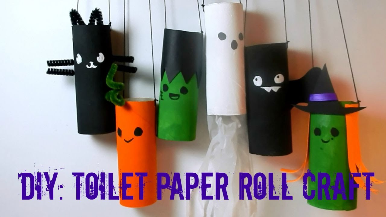 Diy Halloween Toilet Paper Roll Craft Recycle Youtube