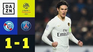 Edinson Cavani rettet Punkt: Straßburg - Paris Saint-Germain 1:1 | Highlights | Ligue 1 | DAZN