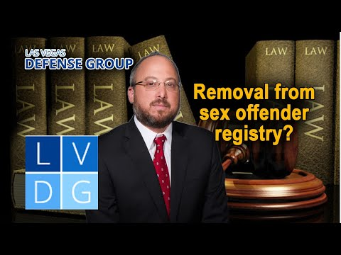 Is it possible to get removed from the Nevada sex offender registry?