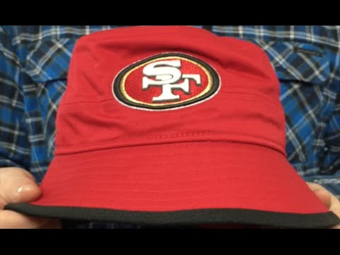 bd6fc3c90a295 49ers  BASIC-ACTION  Red Bucket Hat by New Era - YouTube