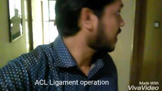 My acl ligament operation!!knee operation by dr.farid in comfort hospital, green road, dhaka