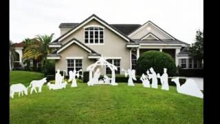 Teak Isle Christmas Outdoor Complete Nativity Scene, Large