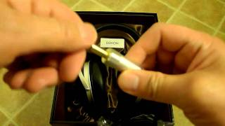 denon AH-D7000 headphones unboxing
