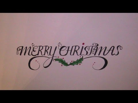 how to write in cursive - cursive fancy letters merry christmas ...