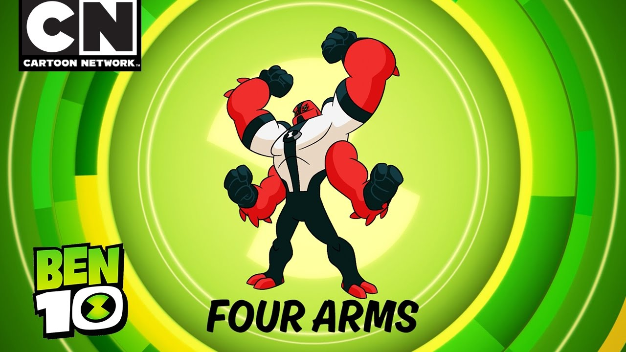 ben 10 aliens in action four arms cartoon network youtube