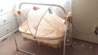 Electric Baby Swing Music R/C Baby Sleeping Cradle Bed