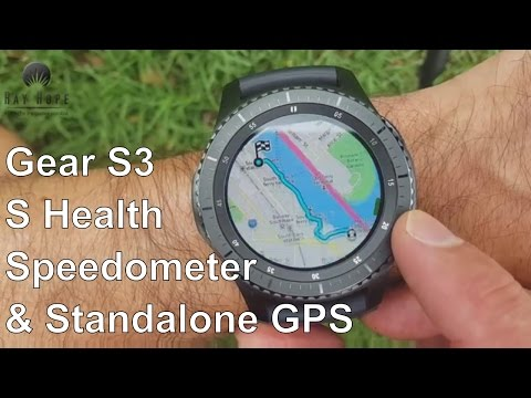 Samsung Gear S3 Speedometer, Standalone GPS and S Health apps Unboxing & review