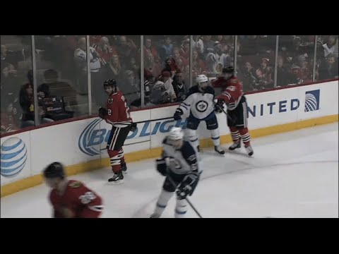Daniel Carcillo gets six games for a cross-check (Should have got 30)
