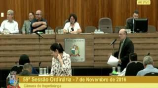 59ª Sessão Ordinária 07/11/2016