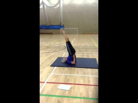 gymnastics shoulder stand  youtube