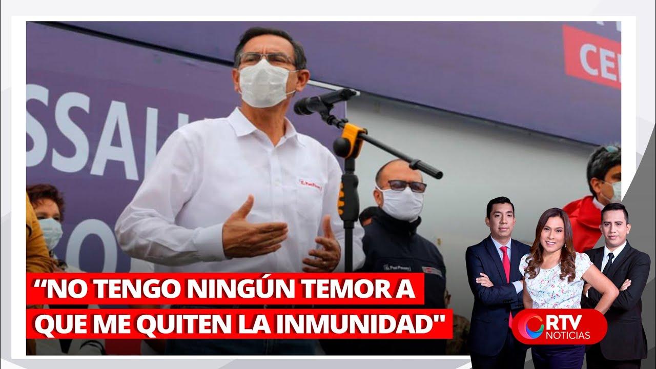 """Vizcarra: """"No tengo ningún temor a que me quiten la inmunidad"""" - RTV Noticias"""