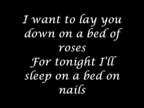 Bon Jovi - Bed of roses (lyrics).
