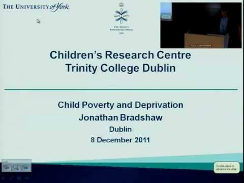 Professor Jonathan Bradshaw: 'Child Poverty and Deprivation in Comparative Perspective'