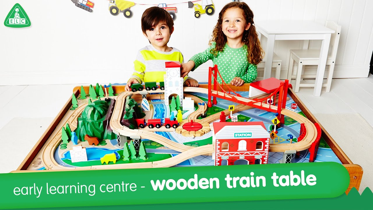 Early Learning Centre Wooden Train Table - YouTube