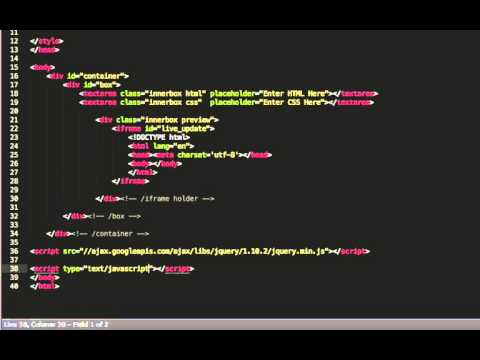 Creating a Real Time HTML and CSS Editor with jQuery