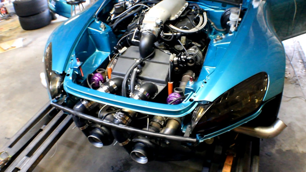 Twin Turbo J32 Honda V6 S2000 Drag Car 1300bhp Dyno Runs