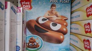 POOP EMOJI POOL FLOAT!!