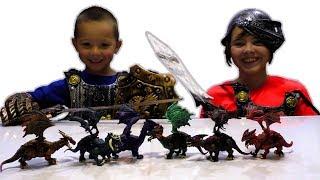 Драконы и Рыцари Обзор Игрушек Фикс Прайс FIX PRICE Игрушки для Мальчиков и Девочек Видео для детей