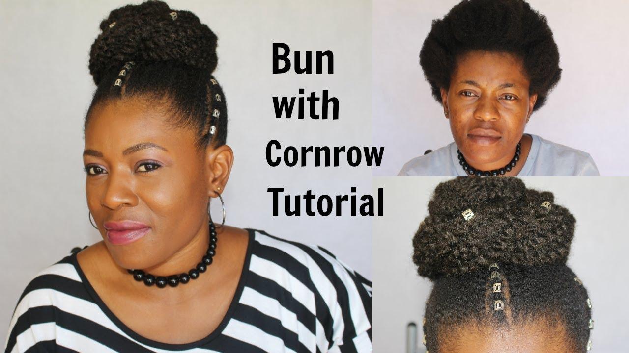 Bun with cornrow tutorial extensions on short hair bun with cornrow tutorial extensions on short hair neknatural pmusecretfo Gallery