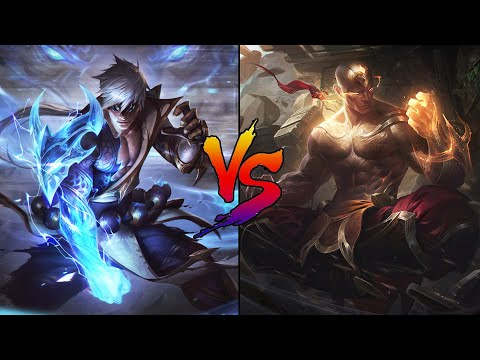 Storm Dragon Lee Sin vs God Fist Lee Sin Skin Comparison Spotlight (League of Legends)