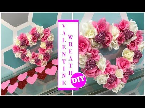 VALENTINE WREATH DIY |UNDER $10