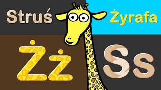 Nauka liter i nazw zwierząt safari dla dzieci | CzyWieszJak