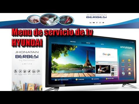 SOLUCIÓN POR  MENÚ DE SERVICIO EN TV HYUNDAI