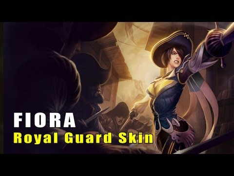 League of Legends Royal Guard Fiora Skin