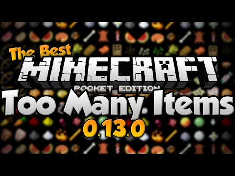 AWESOME TOO MANY ITEMS for 0.13.0!!! - Inventory Editor for MCPE - Minecraft PE (Pocket Edition)