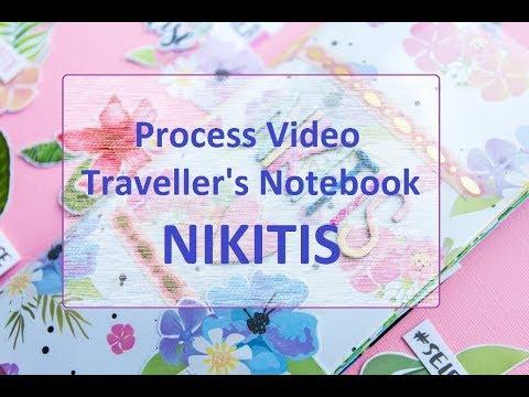 Процес создания тревелбука мидори (Traveller's Notebook - Nikitis)