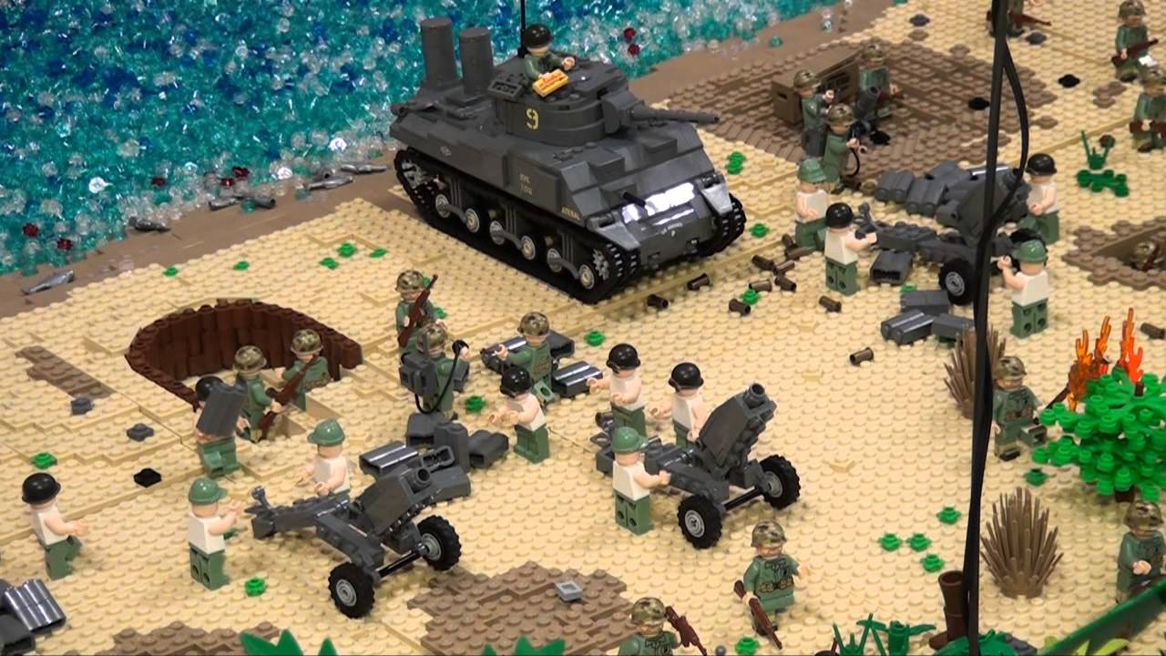 LEGO WWII Brickmania display - Brickworld Chicago 2013 - YouTube