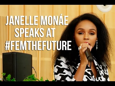 Janelle Monae delivers a powerful speech at the #FemTheFutureBrunch