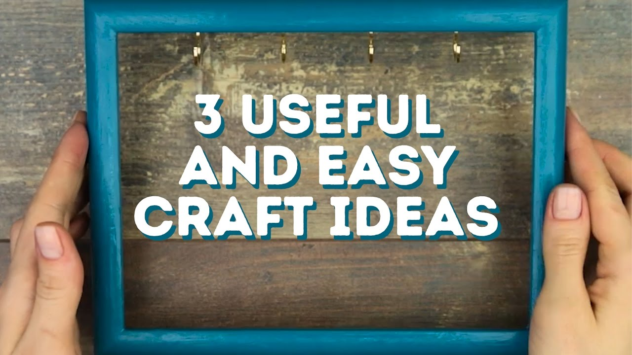 3 Useful And Easy Craft Ideas L 5 Minute Crafts Youtube
