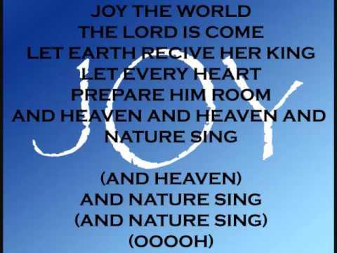 JOY TO THE WORLD - GLEE CAST VERSION WITH LYRICS