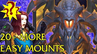 EASY MOUNTS  - 20+ More Easy To Get Mounts in World of Warcraft