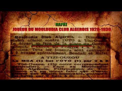 Hafri Joueur Du MC Alger 1929-1930