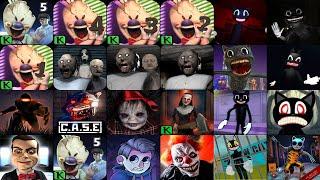 Ice Scream 5 Friends,Ice Scream 4,Ice Scream 3,Ice Scream 2,Ice Scream 1,Granny 3,Granny