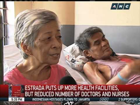 Estrada promised cheap healthcare, but cut hospital subsidy