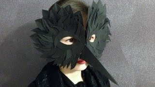 Как сделать маску птицы своими руками из бумаги - Скрапбукинг с детьми 3 / Aida Handmade(Как сделать маску птицы для лица своими руками из бумаги и картона. Делаем маску вороны с клювом на хэллоуин..., 2015-10-26T21:21:21.000Z)