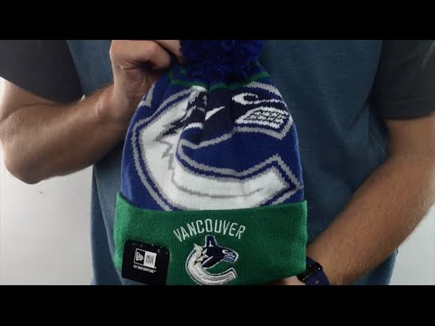 Canucks  LOGO WHIZ  Royal-Green Knit Beanie Hat by New Era - YouTube 7198816b13de