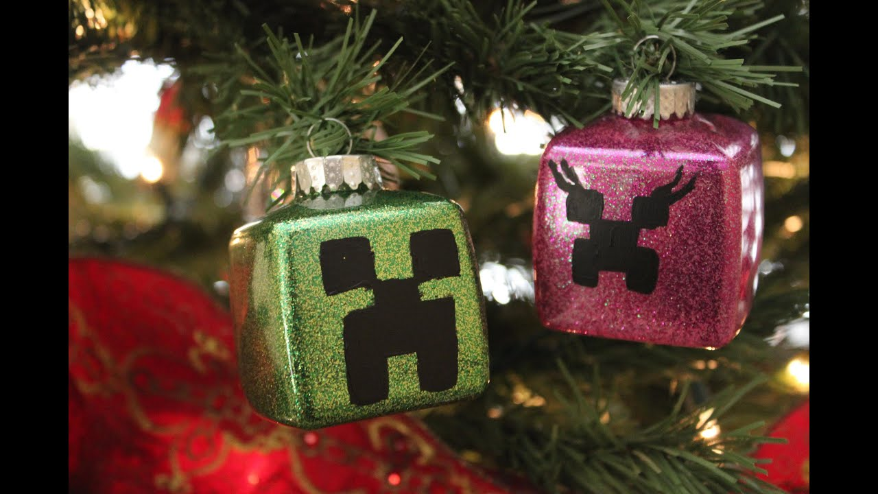 Couples christmas ornaments - Minecraft Christmas Ornaments Creeper Couple Diy