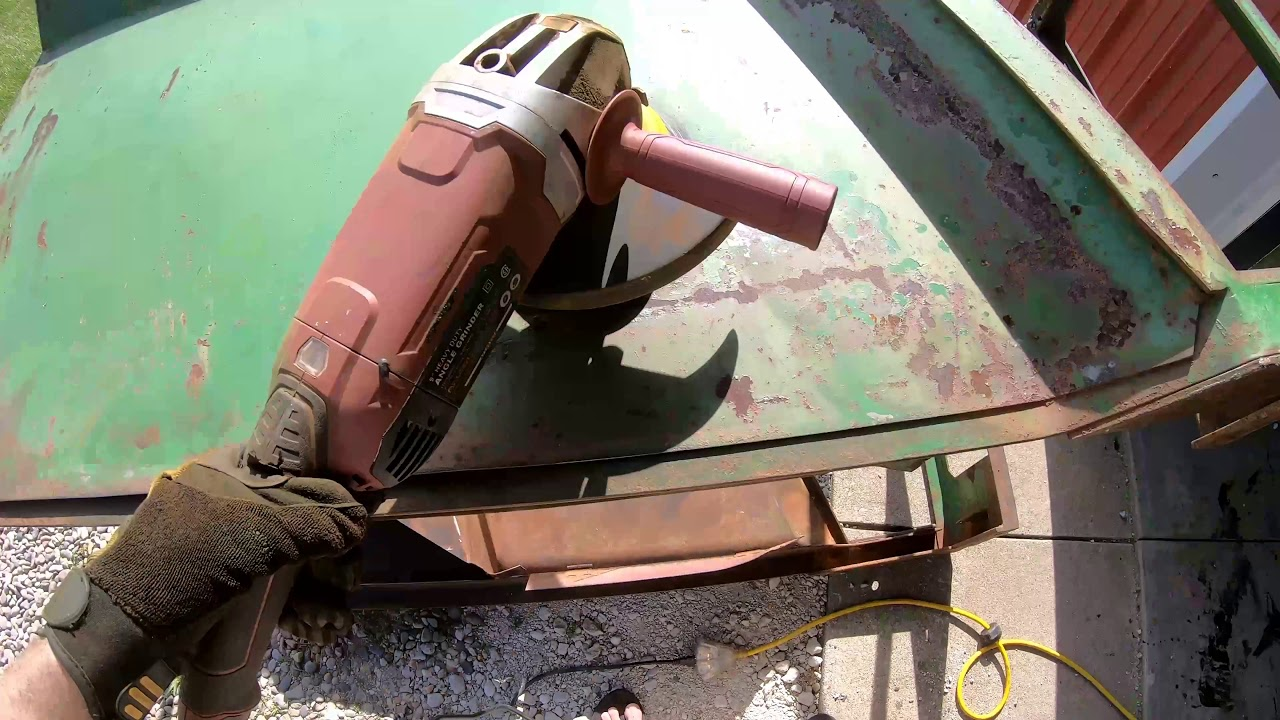 medium resolution of it is hot lets wire brush the cab on the john deere 2510 messy job