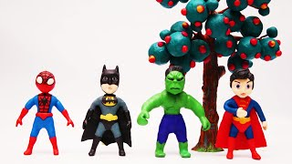 Homem-Aranha, Batman, Super-Homem e Hulk brincam de esconde-esconde e dançam! | Vídeos divertidos
