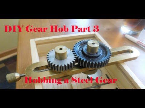 DIY Gear Hob Part 3: Cutting a Steel Gear