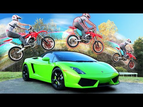 LAMBORGHINI DIRT BIKE JUMP!!