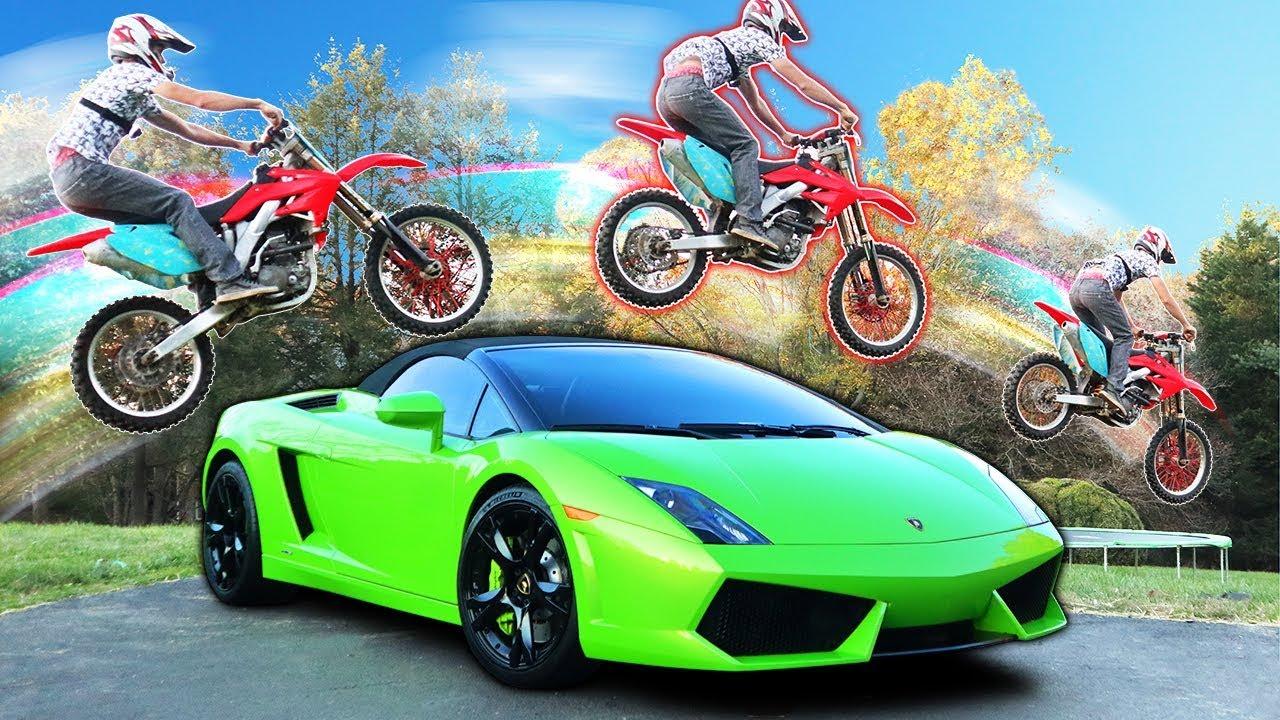 Lamborghini Dirt Bike Jump Youtube