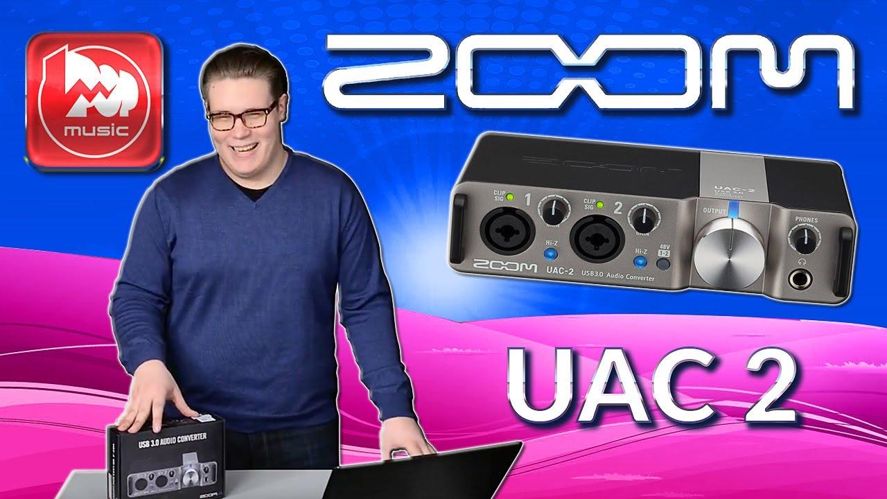 ZOOM UAC-2 популярный скоростной аудиоинтерфейс на USB 3.0