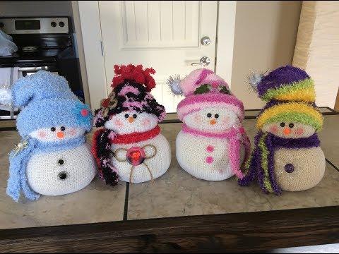 Sher & Megan's adorable Sock Snowman Tutorial!!