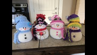 Sher & Megan's adorable Sock Snowman Tutorial!!